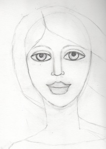 Sketched face 8-15-13